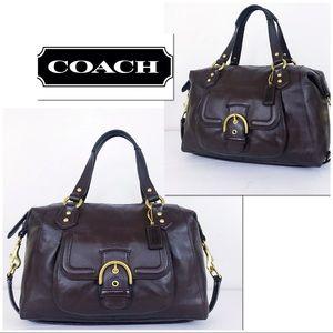 Coach Soho Mahogany Brown Leather Campbell Satchel